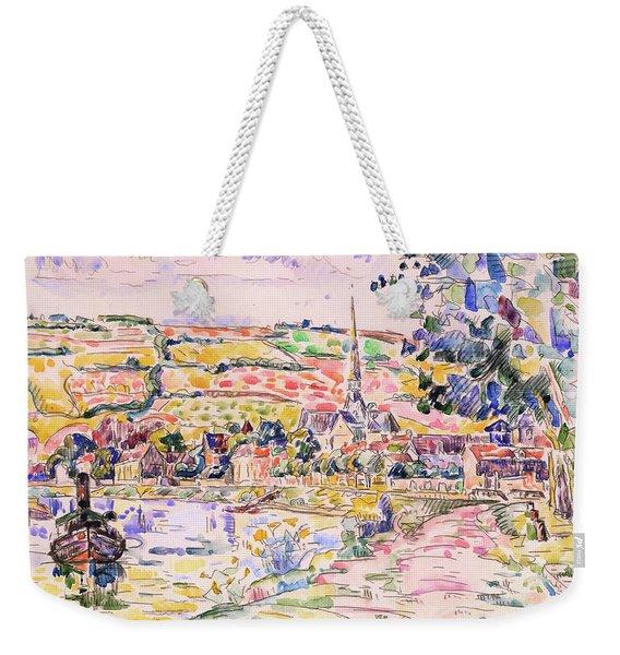 Petit Andely-the River Bank - Digital Remastered Edition Weekender Tote Bag