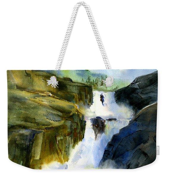 Petroglyph Falls Fishing Weekender Tote Bag