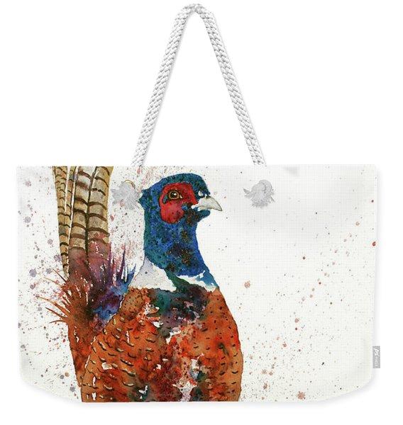 Pheasant Portrait Weekender Tote Bag