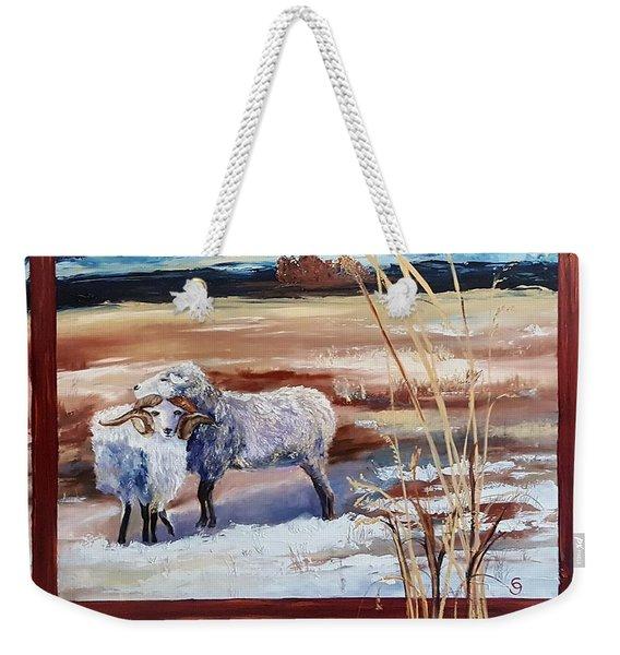 Phil And Alice Navajo Sheep    38 Weekender Tote Bag