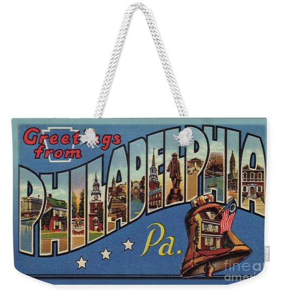 Philadelphia Greetings Weekender Tote Bag