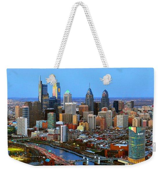 Philadelphia Skyline At Dusk 2018 Weekender Tote Bag