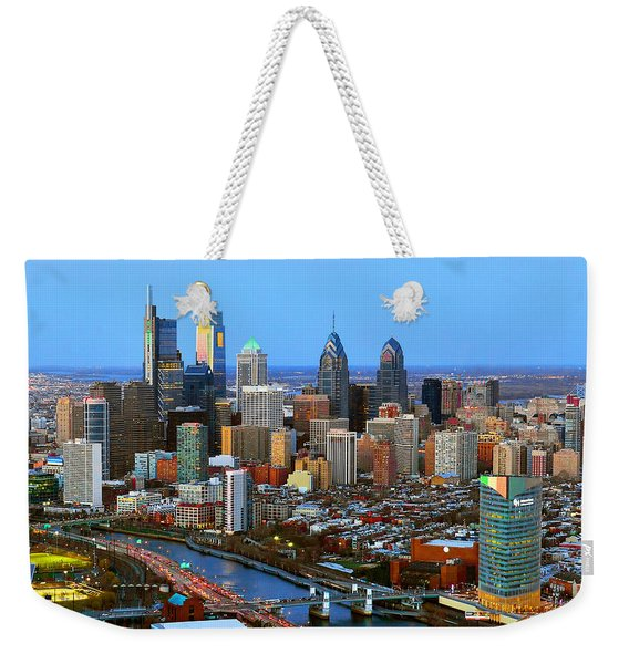 Philadelphia Skyline At Dusk 2018 Weekender Tote Bag