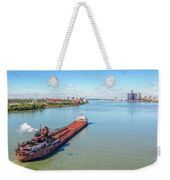 Photobombed Freighter Weekender Tote Bag
