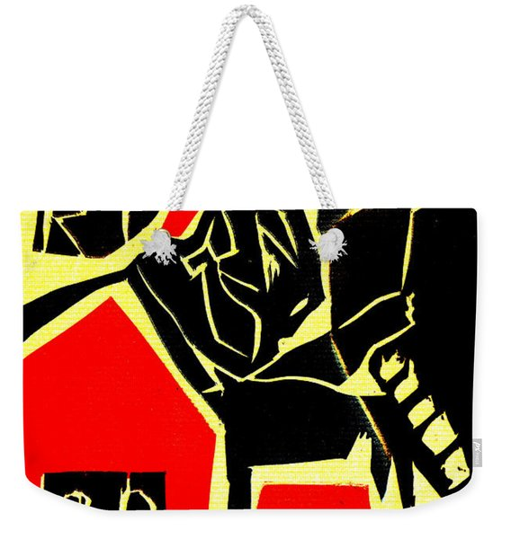 Piano Player Black Ivory Woodcut Poster 31 Weekender Tote Bag