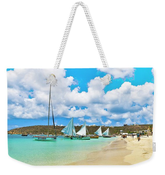 Picture Perfect Day For Sailing In Anguilla Weekender Tote Bag