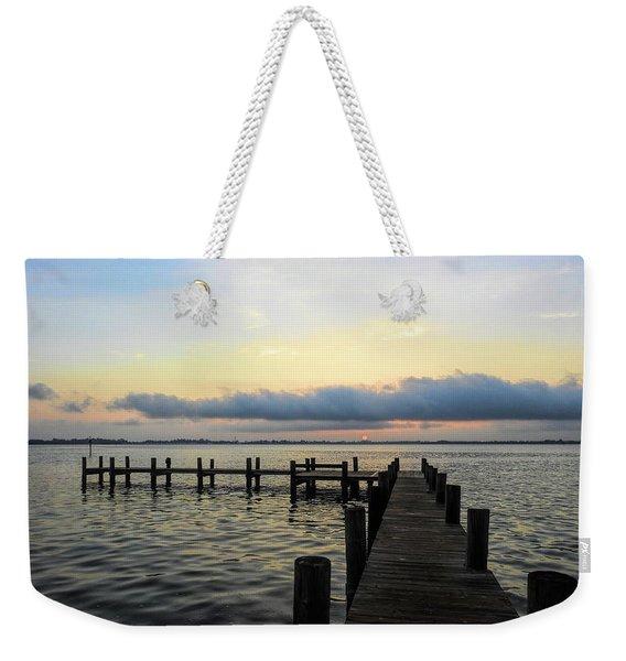 Pier Into Morning Weekender Tote Bag