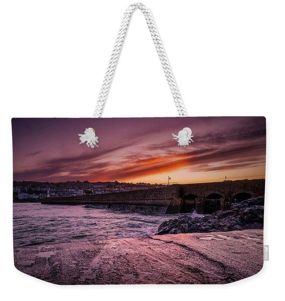 Pier To Pier Sunset Weekender Tote Bag