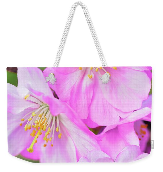 Pink And Lovely Blossoms Weekender Tote Bag