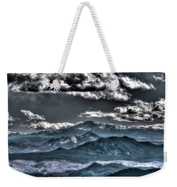 Pikes Peak And Clouds Weekender Tote Bag