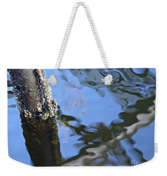 Pilings And Reflections 1   Weekender Tote Bag