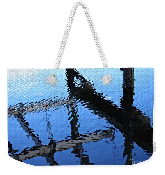 Pilings And Reflections 2  Weekender Tote Bag