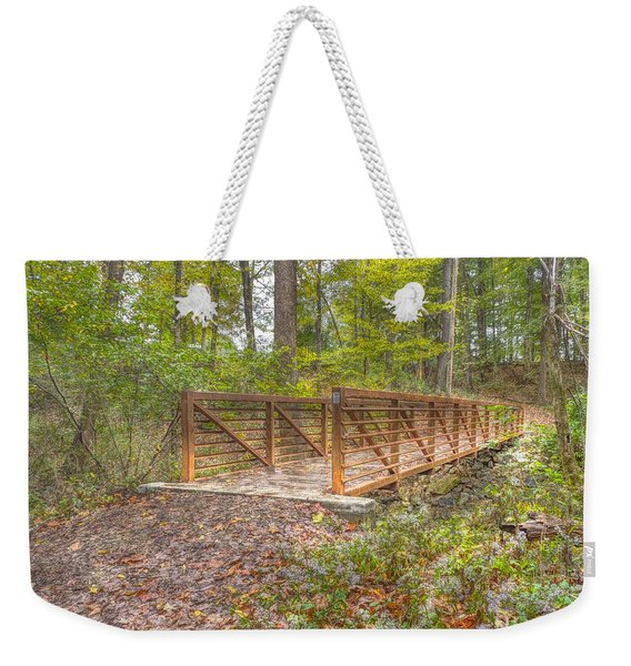 Pine Quarry Park Bridge Weekender Tote Bag