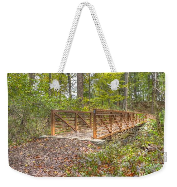 Pine Quarry Park Bridge Weekender Tote Bag