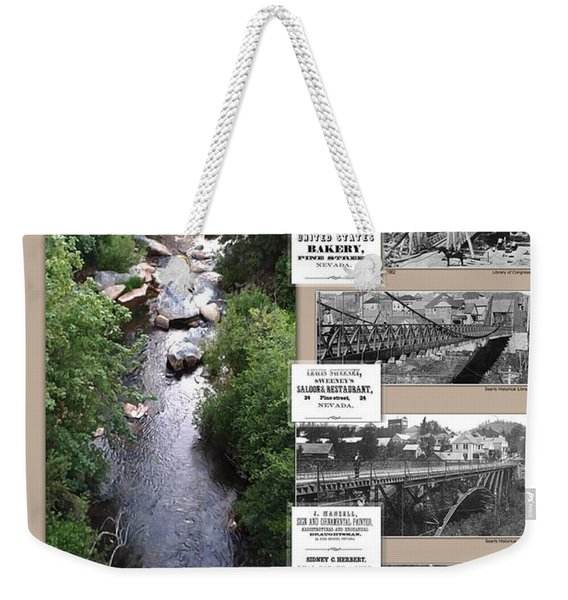 Pine Street Bridge, Nevada City, Ca Weekender Tote Bag