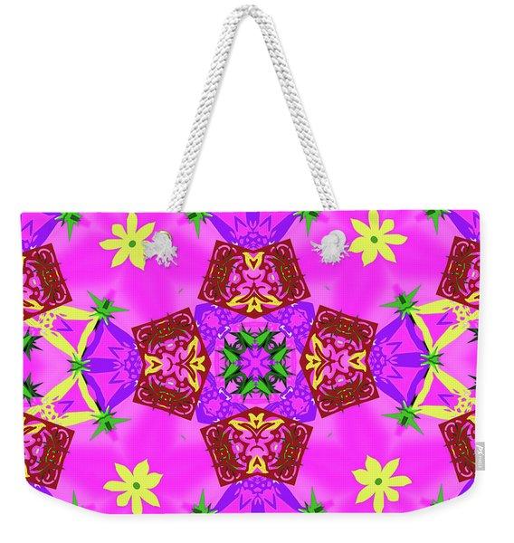 Pink 3 Weekender Tote Bag