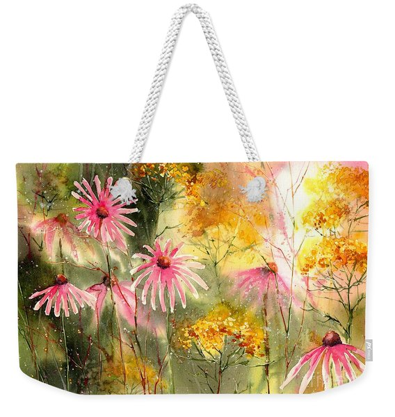 Pink And Gold Weekender Tote Bag
