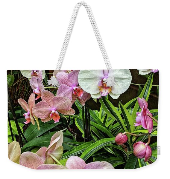 Pink And  White Orchids Weekender Tote Bag