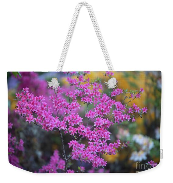 Pink Azaleas Garden Light Weekender Tote Bag
