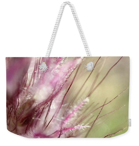 Pink Cotton Candy Weekender Tote Bag