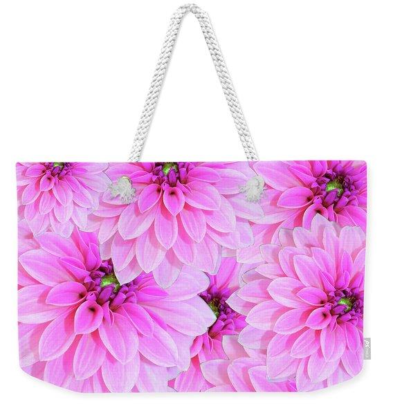 Pink Dahlia Flower Design Weekender Tote Bag