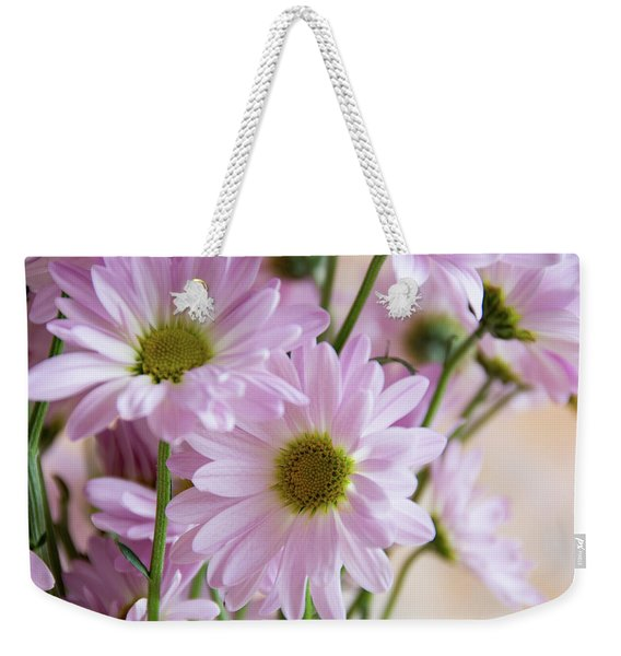 Pink Daisies-1 Weekender Tote Bag