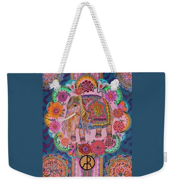 Pink Elephant Weekender Tote Bag