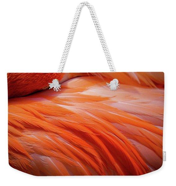 Pink Feathers Weekender Tote Bag