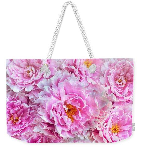 Pink Flowers Everywhere Weekender Tote Bag