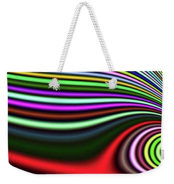 Weekender Tote Bag featuring the digital art Pink Lazy Eye Fantasy by Don Northup
