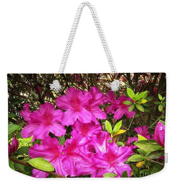 Pink Outside Weekender Tote Bag