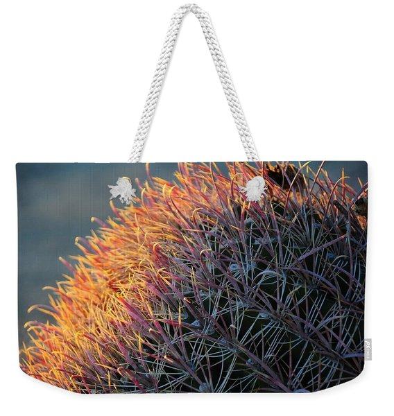 Pink Prickly Cactus Weekender Tote Bag