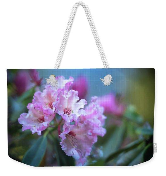 Pink Rhododendron Flourish Weekender Tote Bag