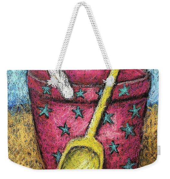 Pink Sand Pail Weekender Tote Bag