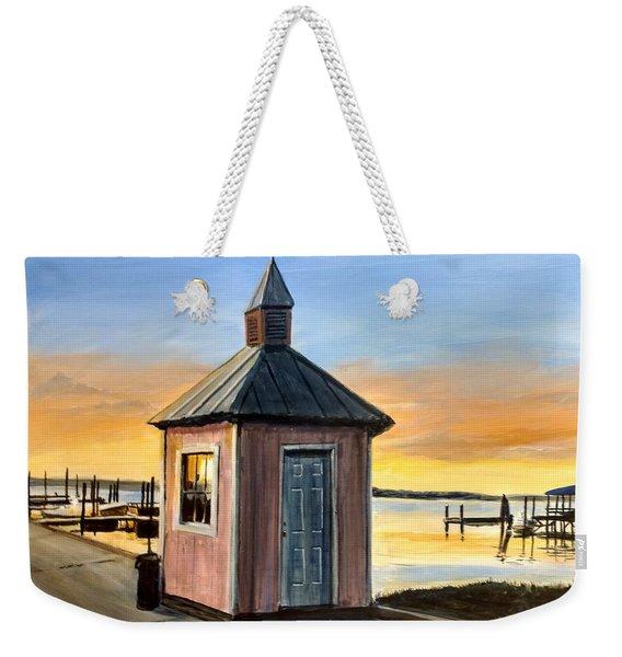 Pink Shed Weekender Tote Bag