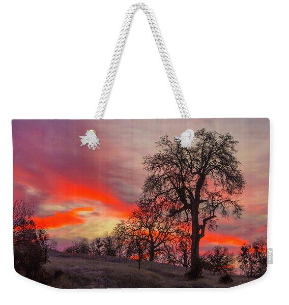 Pink Sunrise Weekender Tote Bag
