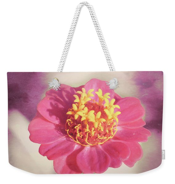 Pink Zinnia Isolated Weekender Tote Bag