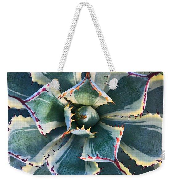 Pinwheel Succulent Weekender Tote Bag