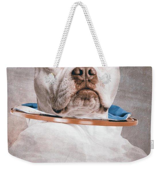 Pitbull Portrait Weekender Tote Bag