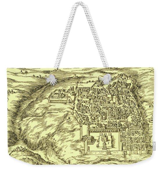Plan Of Jerusalem Circa 1600 Weekender Tote Bag