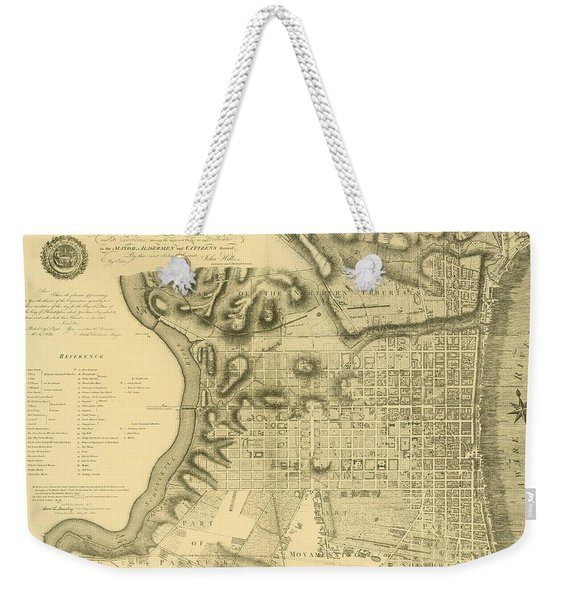 Plan Of The City Of Philadelphia And Its Environs Shewing The Improved Parts, 1796 Weekender Tote Bag