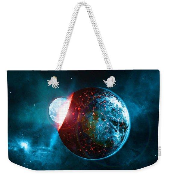 Planet Impact Weekender Tote Bag