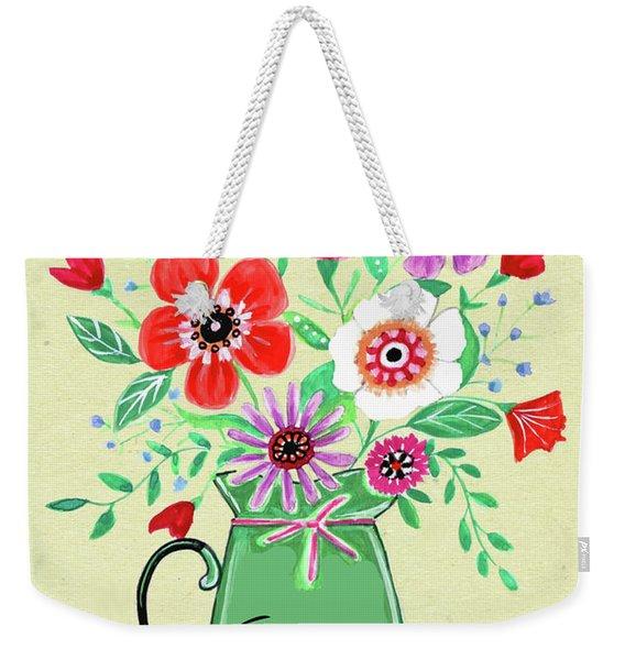 Flower Pot Thank You Weekender Tote Bag