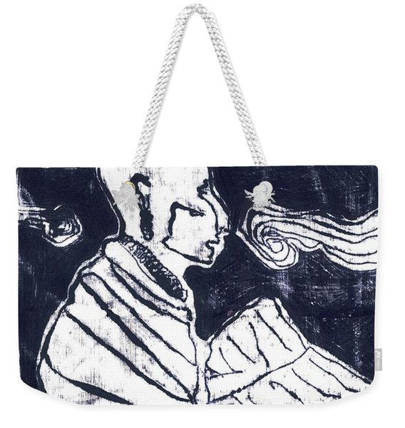 Poet Reading To Wind Clouds Otdv3 13 Weekender Tote Bag