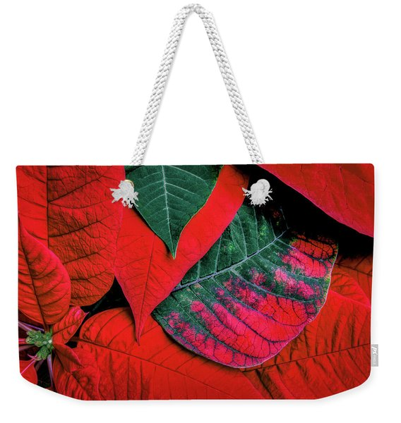 Poinsettia Caught In The Act Weekender Tote Bag