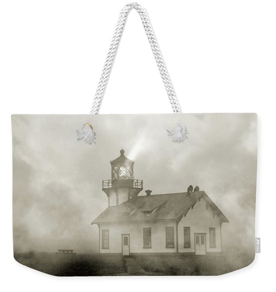Point Cabrillo Lighthouse California Sepia Weekender Tote Bag