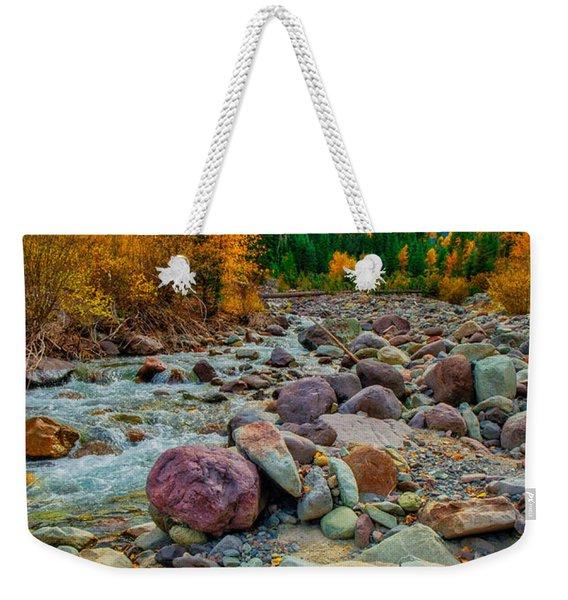 Point Of Color Weekender Tote Bag