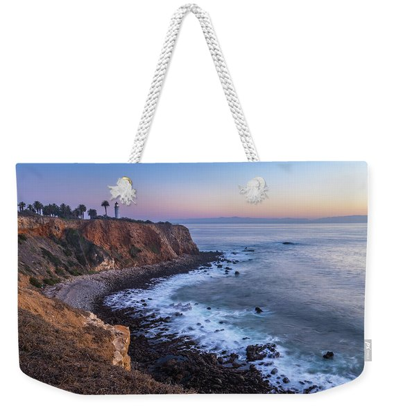 Weekender Tote Bag featuring the photograph Point Vicente Lighthouse Long Exposure by Andy Konieczny