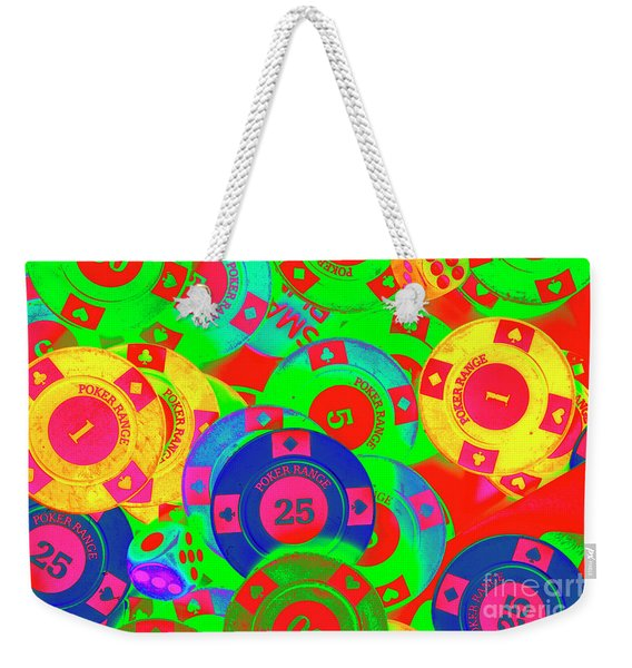 Poker Stacks Weekender Tote Bag