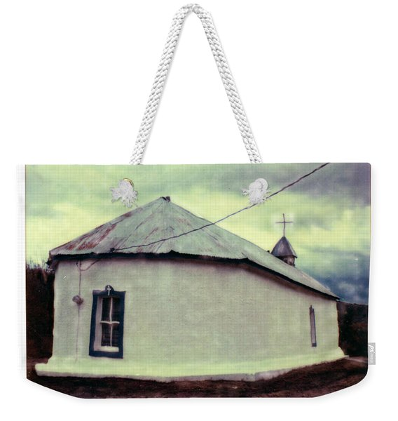 Weekender Tote Bag featuring the photograph Polaroid Sx-70 Hand Manipulated 3 by Catherine Sobredo